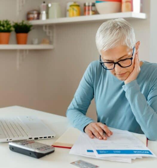 senior woman savings income streams