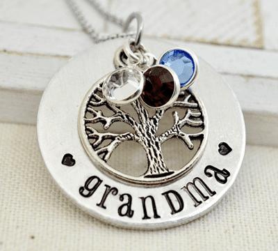 Grandmother's Birthstone Necklace