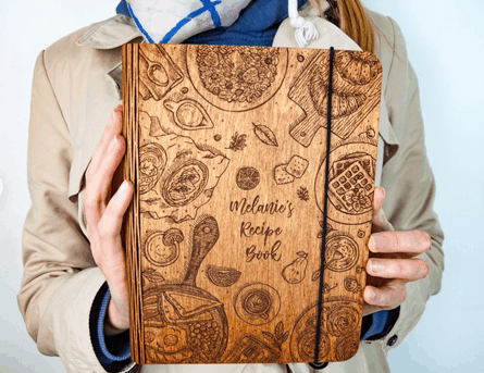 Personalized Wooden Recipe Book