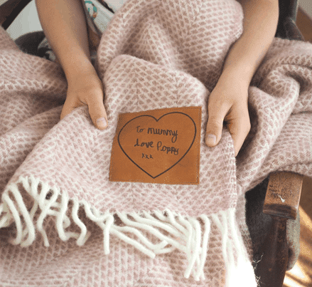 Personalized Wool Throw