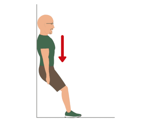 The Elevated Wall-Sit Exercise