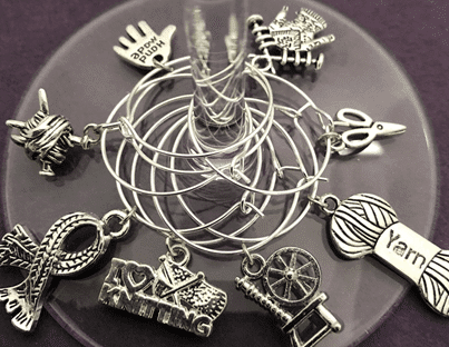 Knitting Wine Charms