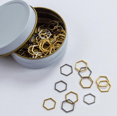 Set of 60 Hexagon Stitch Markers
