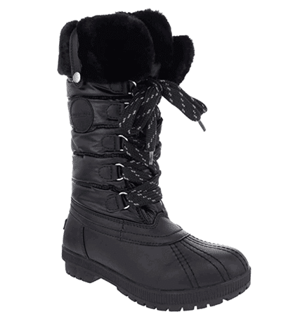 London Fog Melton Cold Weather Waterproof Snow Boot