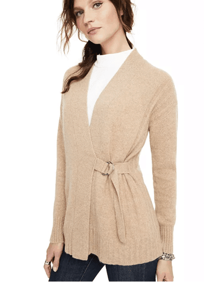 Cashmere D-Ring Cardigan