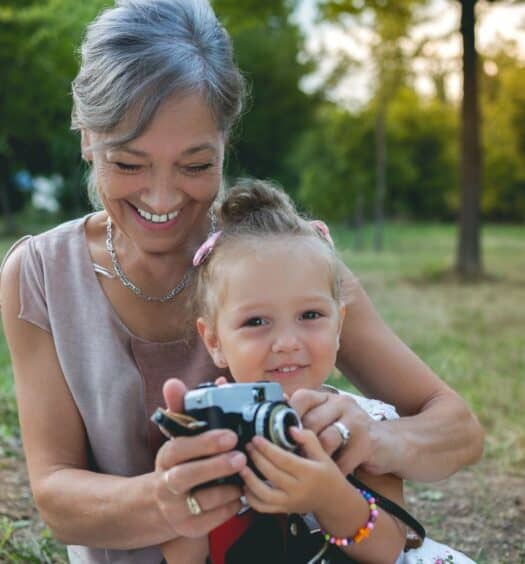 photographing grandchildren