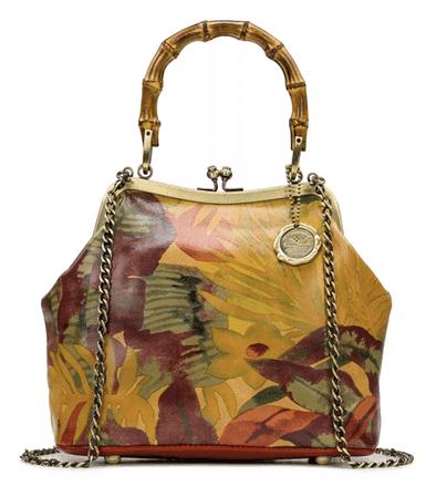 Patricia Nash Laureana Frame Leather Satchel