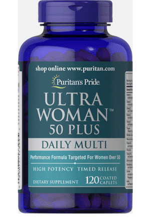 Puritan's Pride Ultra Woman™ 50 Plus Multi-Vitamin with Zinc