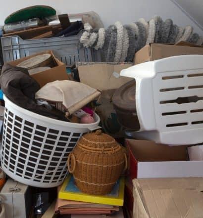 decluttering attic space