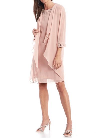 Dillard's pink dress