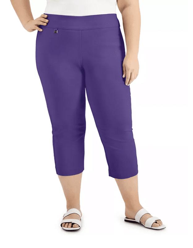 Plus Size Tummy-Control Capri Pants at Macy's.