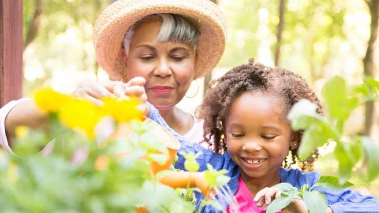 gardening with grandchildren