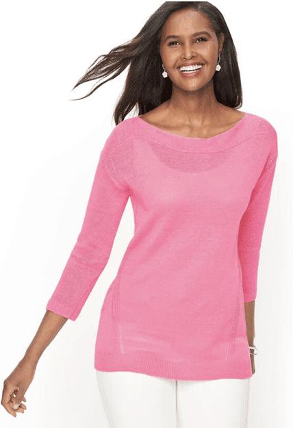 Talbots pink shirt