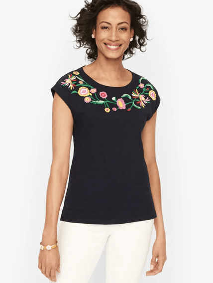 talbots embroidery shirt