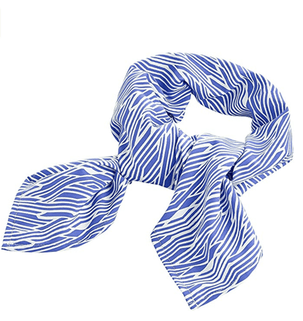 blue scarf accessory