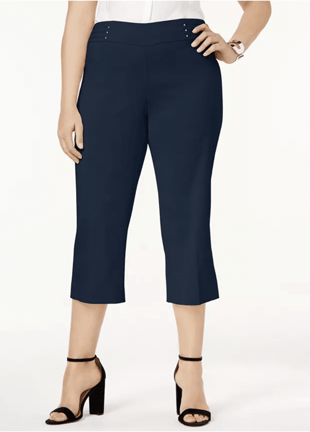 cropped flare capris