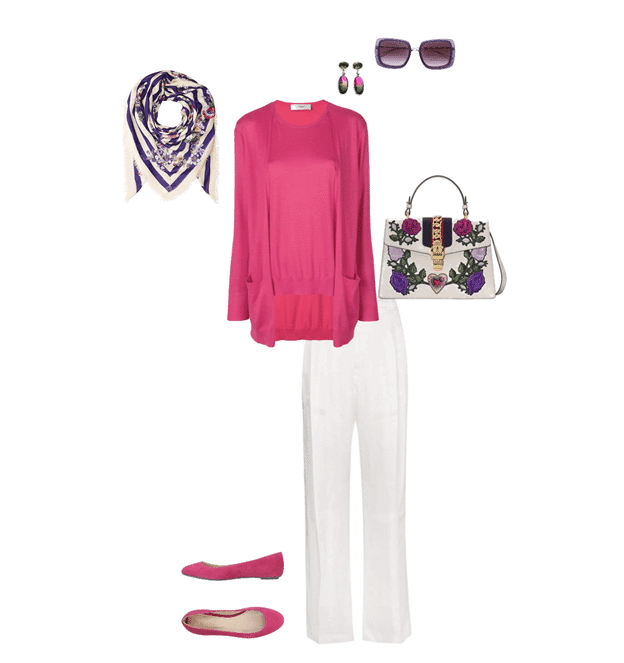 spring outfit idea white and pink