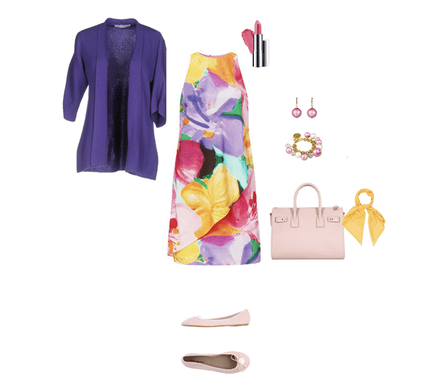 spring outfit idea floral