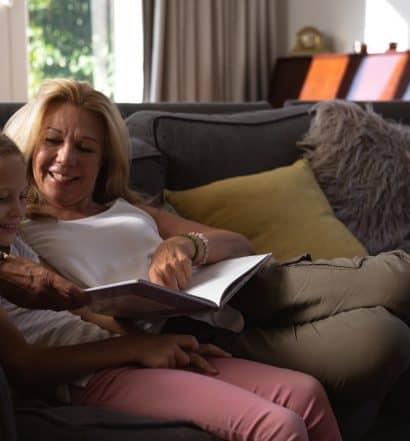 summer reading with grandchildren