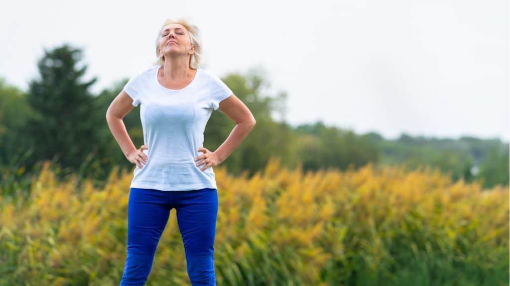 adult woman white t-shirt