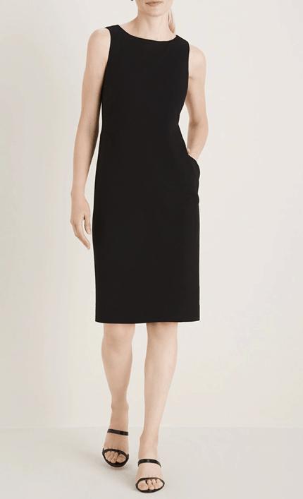 Chico's black midi dress