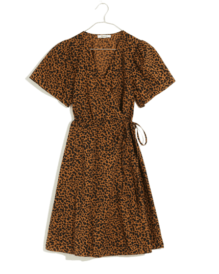 nordstrom wrap dress animal print