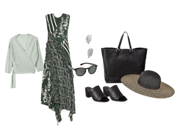 printed dress outfit