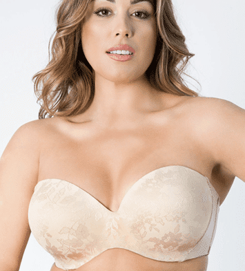 CURVY COUTURE Strapless Multiway Push Up Bra
