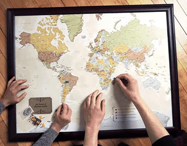 world traveler map