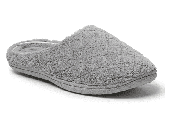 Dearfoams Leslie Quilted Microfiber Terry Clog Slipper
