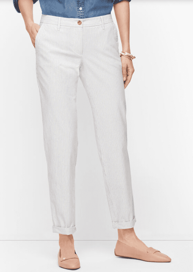 Striped Relaxed Chinos at Talbots